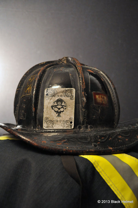 Ace of BH Firefighters Helmet Decal