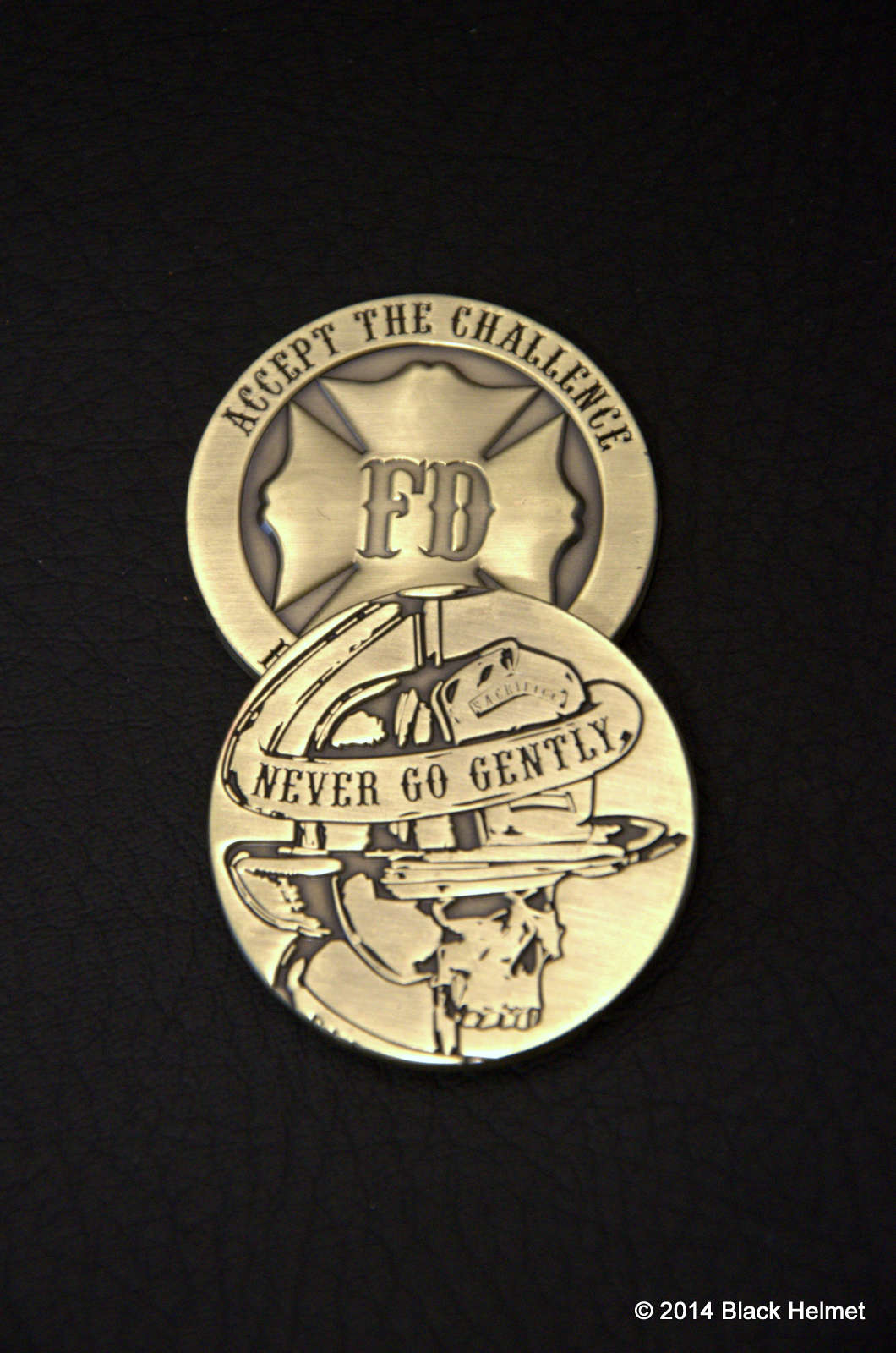 Never Go Gently Challenge Coin (Antique brass)