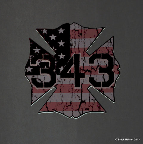 343 Forever Remembered Decal