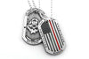 Black Helmet On These Principles We Stand Thin Red Line Dog Tag