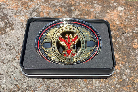 Black Helmet Phoenix  Belt Buckle