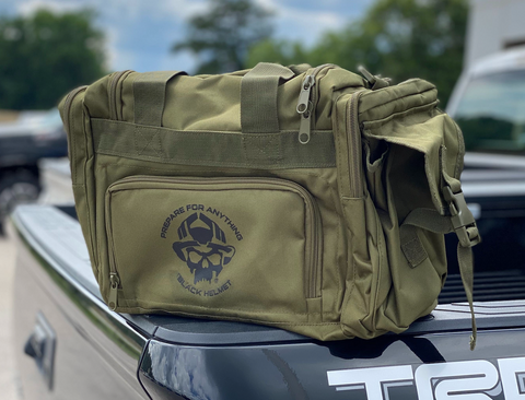 Black Helmet Prepare For Anything Concealed Carry Bag