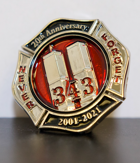 Remember 9/11 343 Twin Towers Limited Edition 20th Anniversary Pin (5 Alarm)