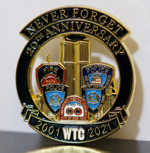 Multiple Agency Limited Edition 20th Anniversary Ribbon Pin 2001-2021 Never Forget