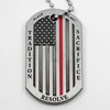 CLEARANCE Black Helmet On These Principles We Stand Thin Red Line Dog Tag