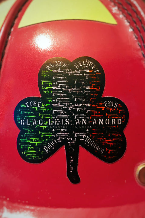 Embrace the Chaos St Paddys Helmet Decal