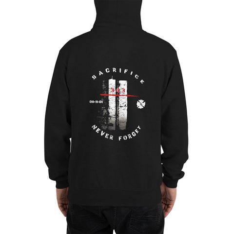 Honor The Fallen Twin Towers 343 Premium Champion Brand Hooded Sweatshirt