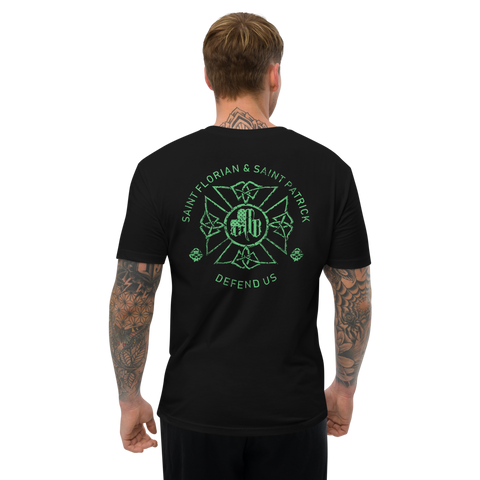 St. Florian Protect Us Tee - St. Patrick's Day Special (Front/Back Print)