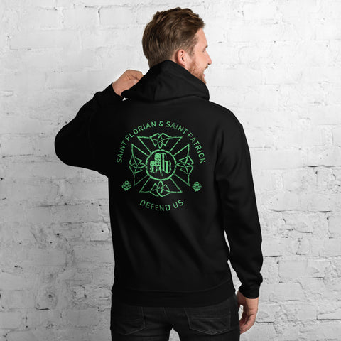St. Florian Protect Us Irish Hoodie - St. Patrick's Day Special
