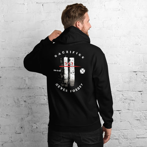Honor The Fallen Twin Towers 343 Gildan Pocket Hooded Sweatshirt