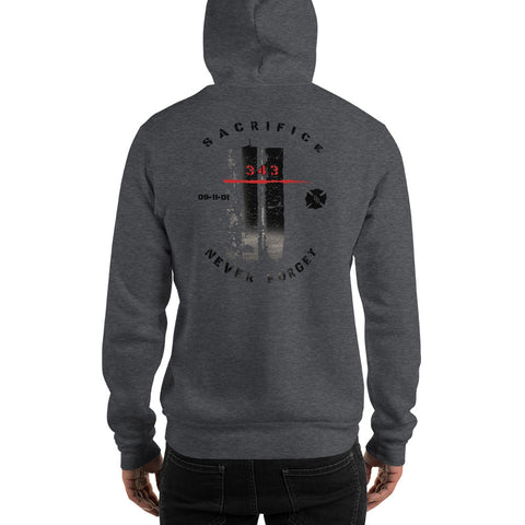 9/11 Never Forget 343 Twin Towers Hoodie