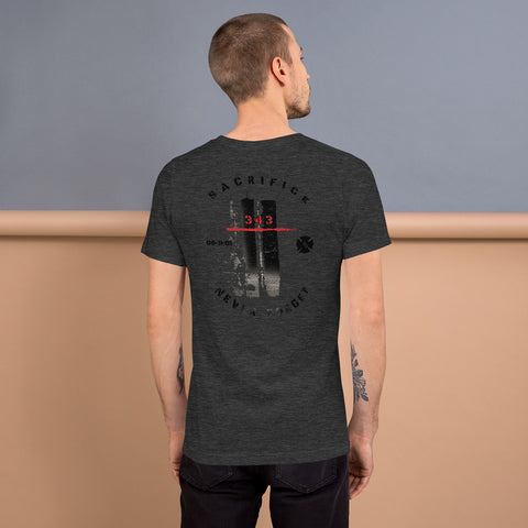 9/11 Never Forget 343 Twin Towers Bella Canvas Unisex T-Shirt