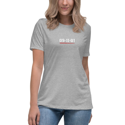 9/11 343 Forever Twin Towers Bella Canvas Women's Relaxed T-Shirt