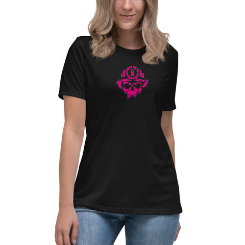 Pink Ribbon Breast Cancer Bella Canvas Women's Relaxed T-Shirt