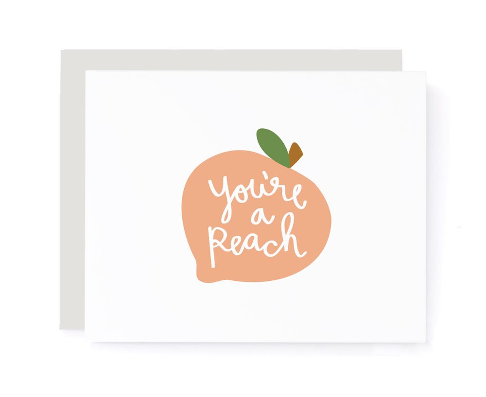 You're A Peach Thank You Card card A Jar of Pickles