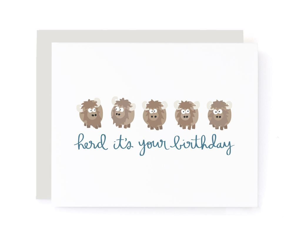 Herd It's Your Birthday Birthday Card