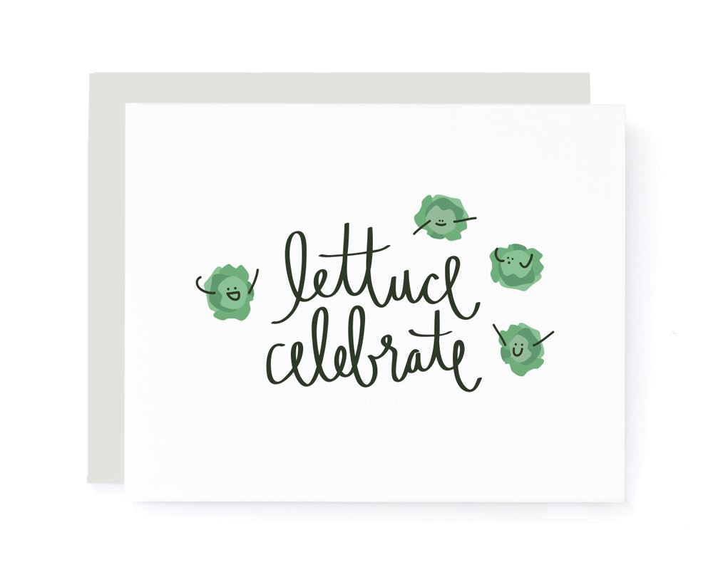 Lettuce Celebrate Congrats Card