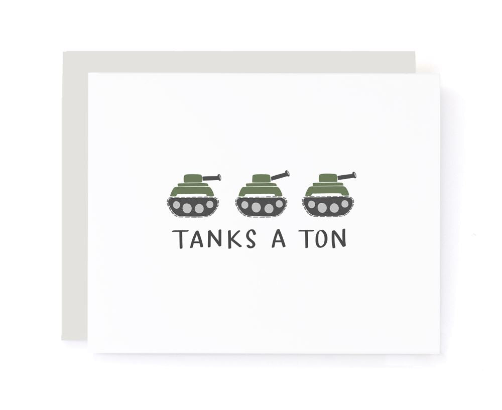 Tanks a Ton Thank You Card card A Jar of Pickles