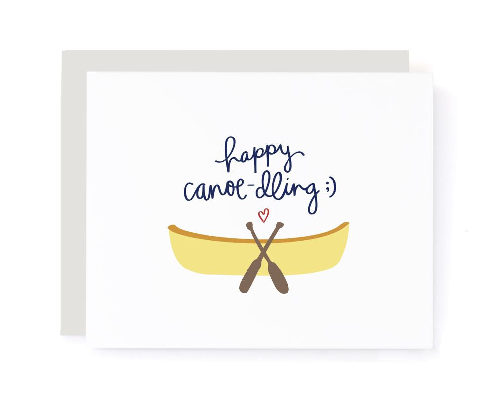 Happy Canoe-dling Wedding Card