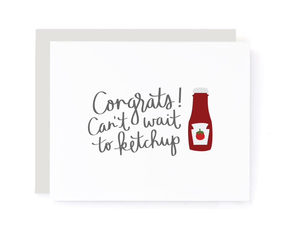 Can't Wait to Ketchup Congrats Card card A Jar of Pickles
