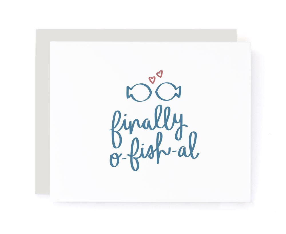Finally O-fish-al Congrats Wedding Card