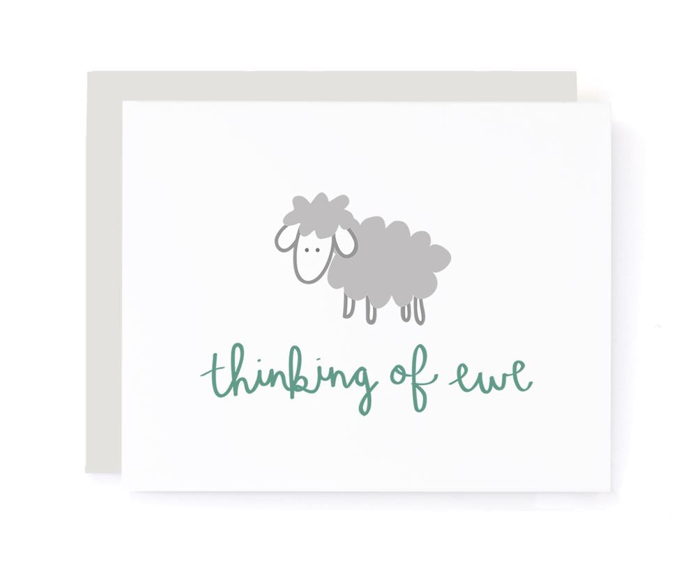 Thinking of Ewe Greeting Card card A Jar of Pickles