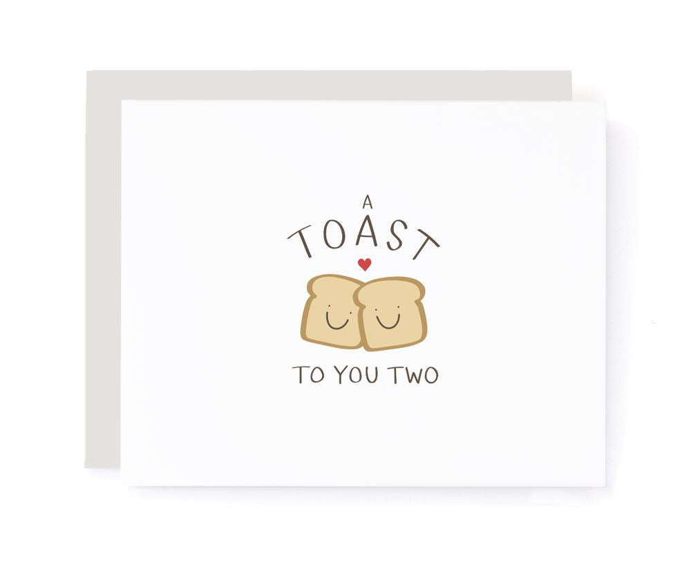 A Toast to You Two Congrats Card