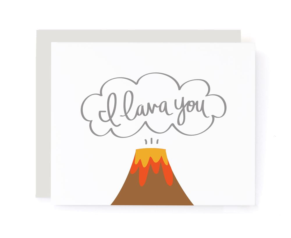 I Lava You Volcano Love Card card A Jar of Pickles