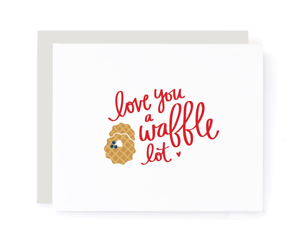 Love You a Waffle Lot Valentines Card card A Jar of Pickles