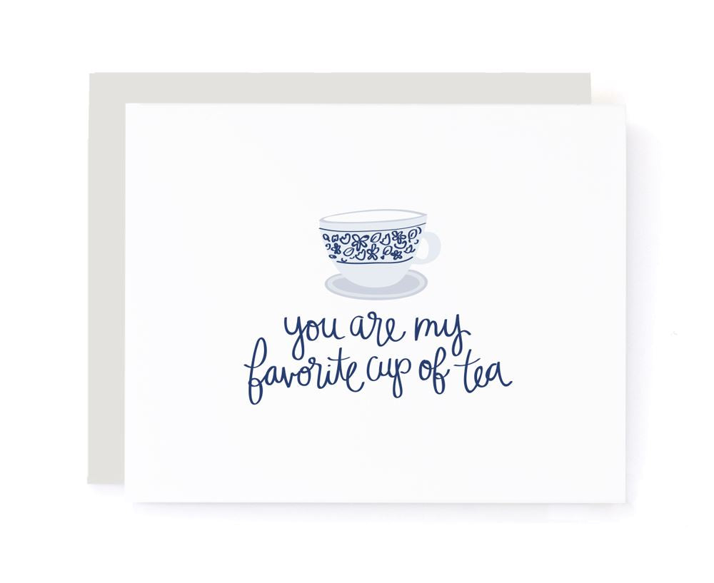 You Are My Favorite Cup of Tea Love Card card A Jar of Pickles