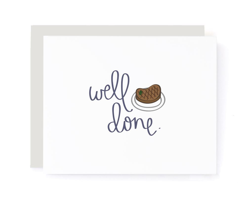 Well Done Steak Congrats Card
