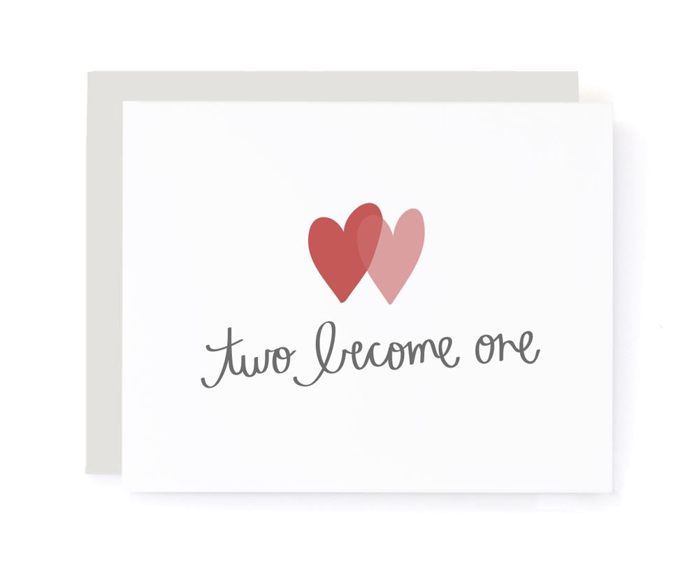 Two Become One Congrats Wedding Card