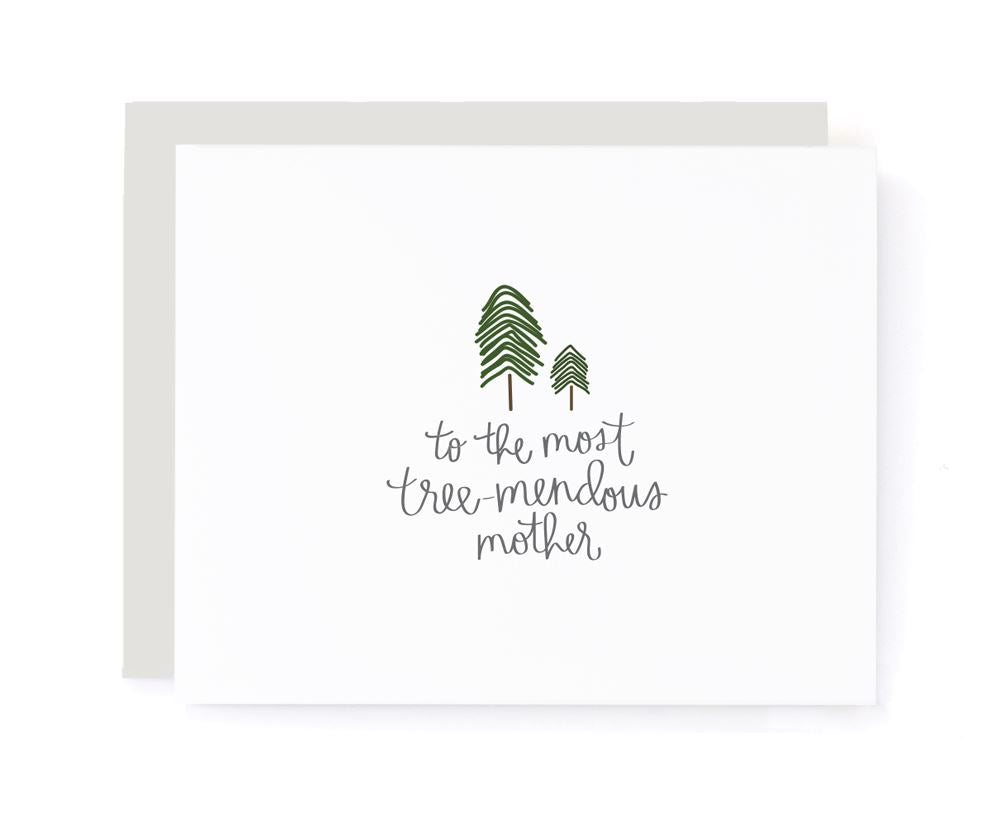 To The Most Tree-Mendous Mother Mother's Card