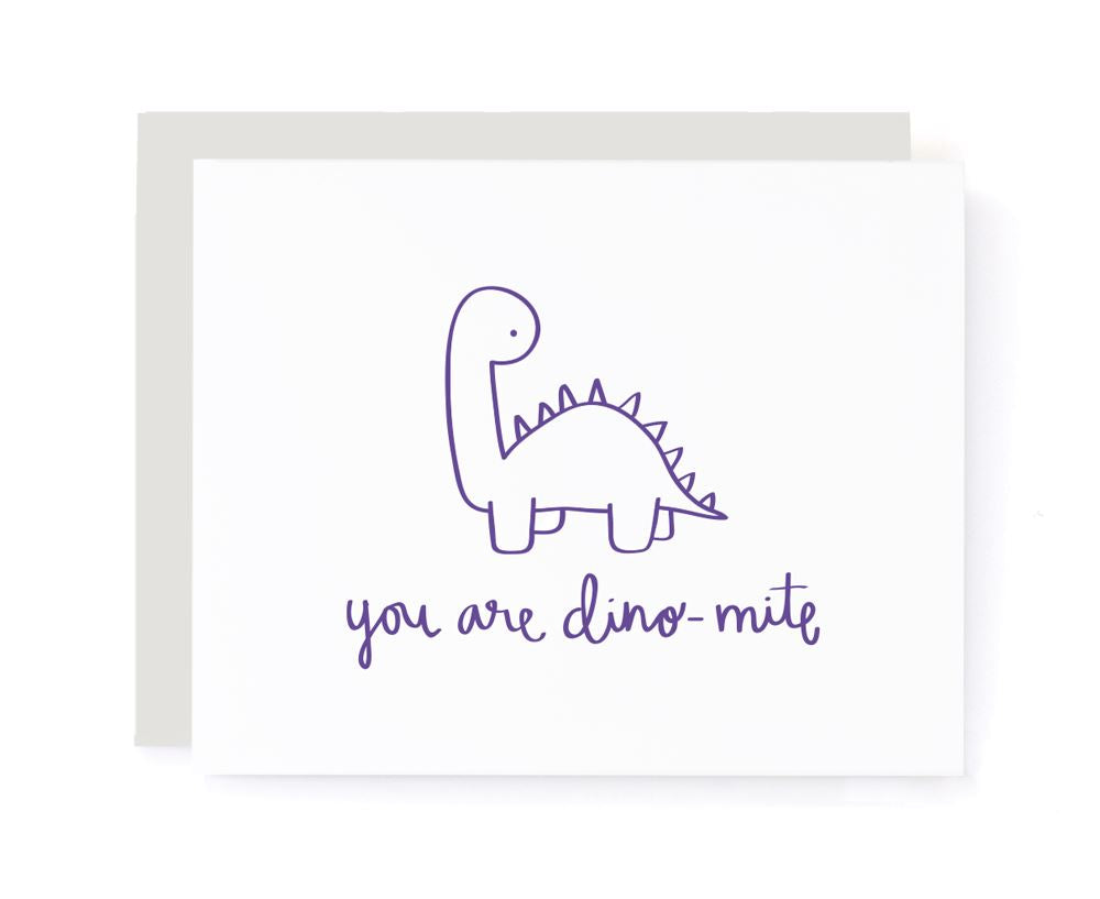 You Are Dino-mite Thank You Card card A Jar of Pickles