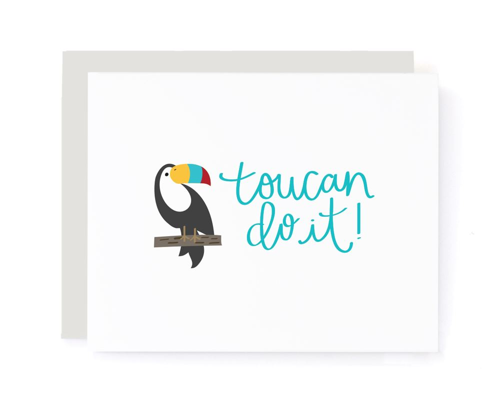 Toucan Do It Encouragement Card card A Jar of Pickles