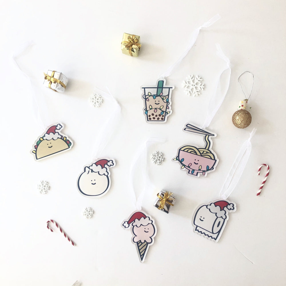 Ice Cream Holiday Ornament