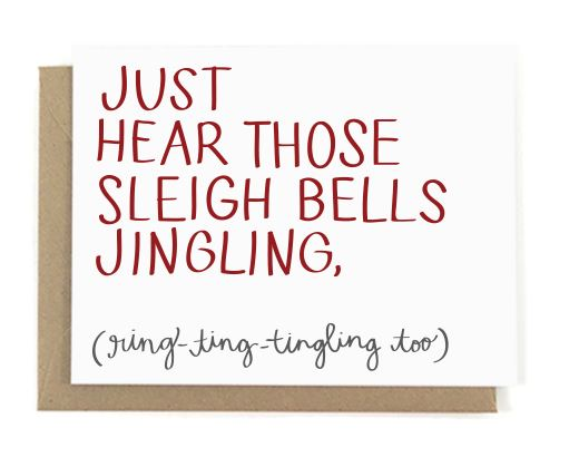 Just Hear Those Sleigh Bells Jingling Christmas Card