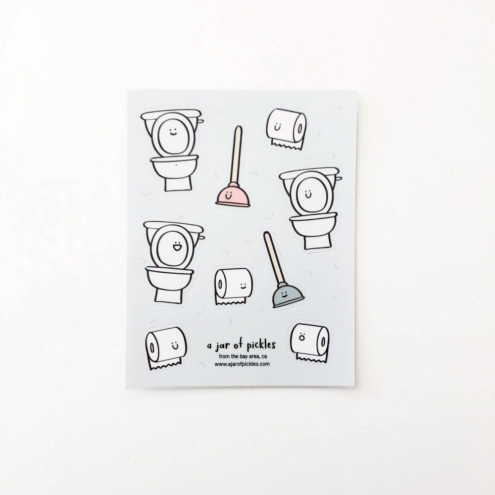 Toilet Paper Sticker Sheet