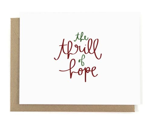 The Thrill of Hope Christmas Card card A Jar of Pickles