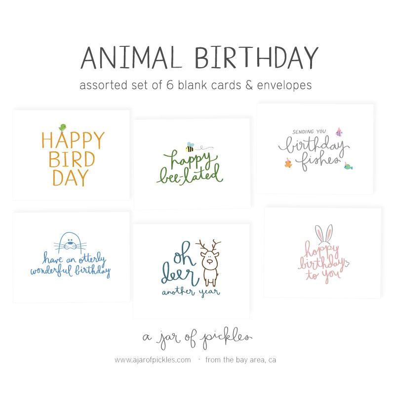 Animal Birthday Assorted Card Set