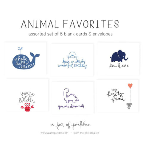 Animal Favorites Assorted Card Set