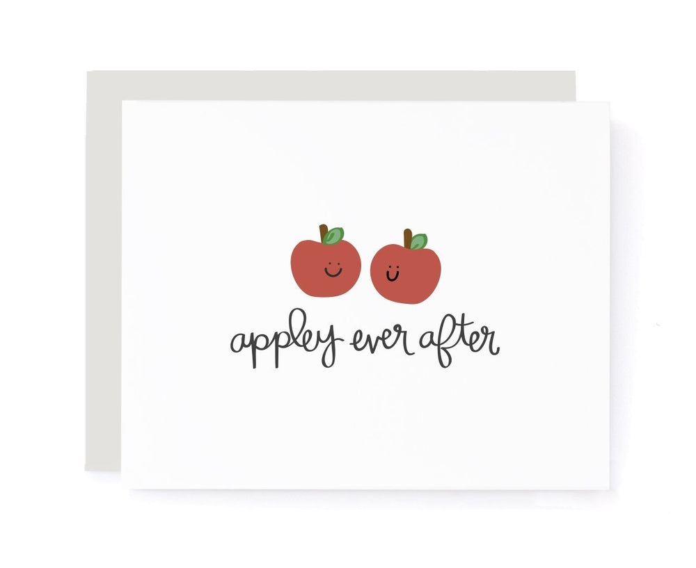 Appley Ever After Congrats Card