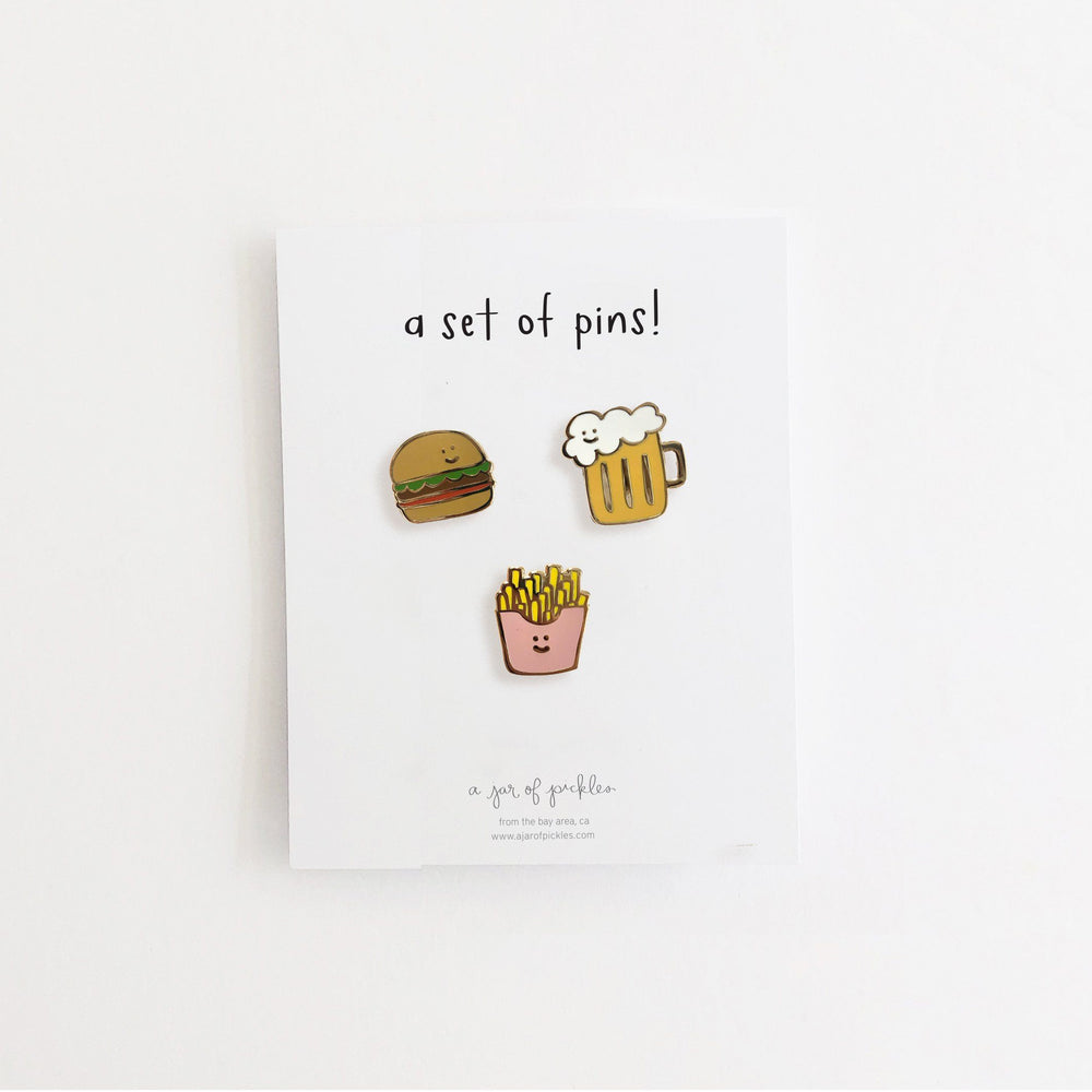 Happy Hour Pin Set of 3