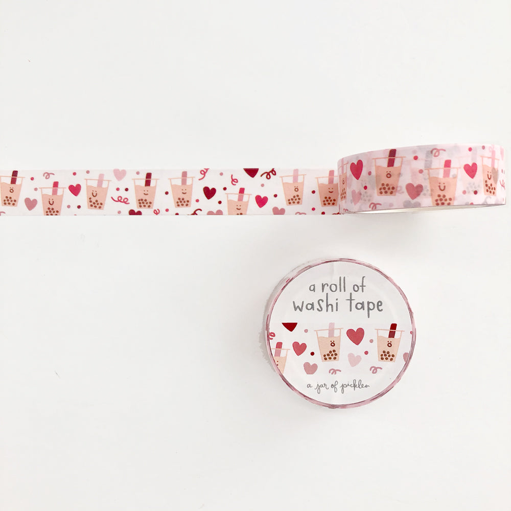 Boba Love Washi Tape