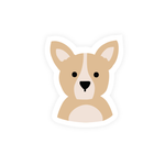 Corgi Dog Vinyl Sticker