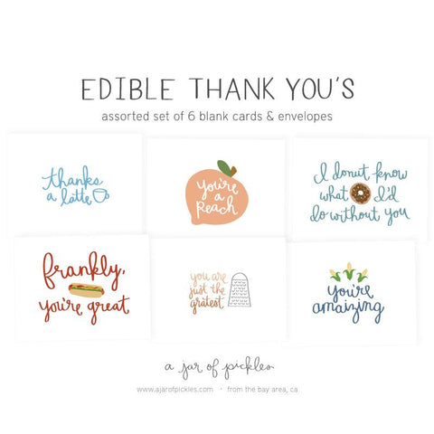Edible Thank Yous Assorted Card Set
