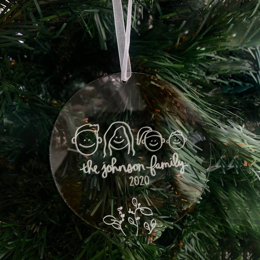 Custom Holiday Ornament: Family Portrait