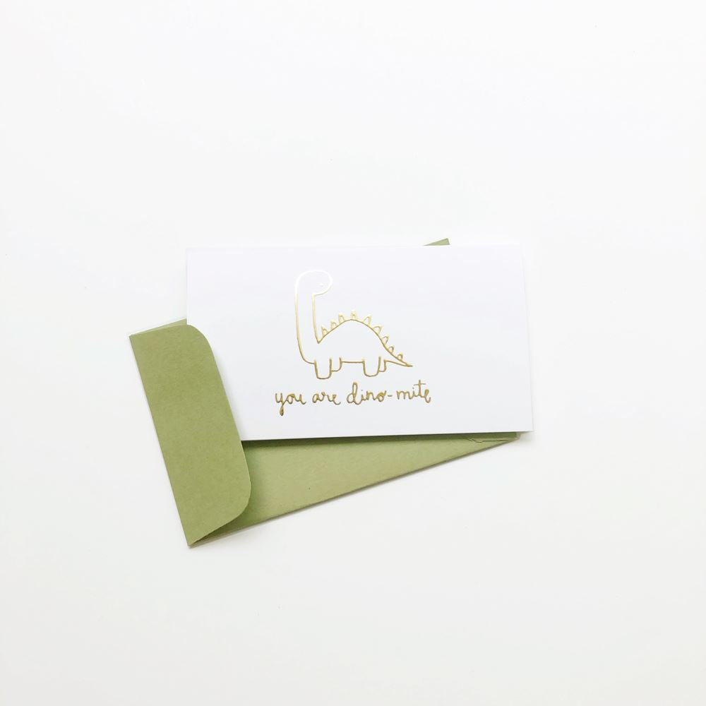 You are Dinomite Gold Foil Mini Card Set of 10 flat card A Jar of Pickles