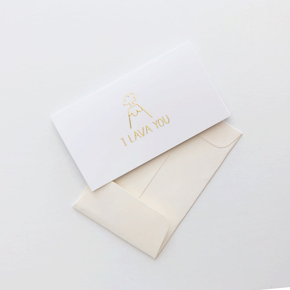 I Lava You Gold Foil Mini Card Set of 10