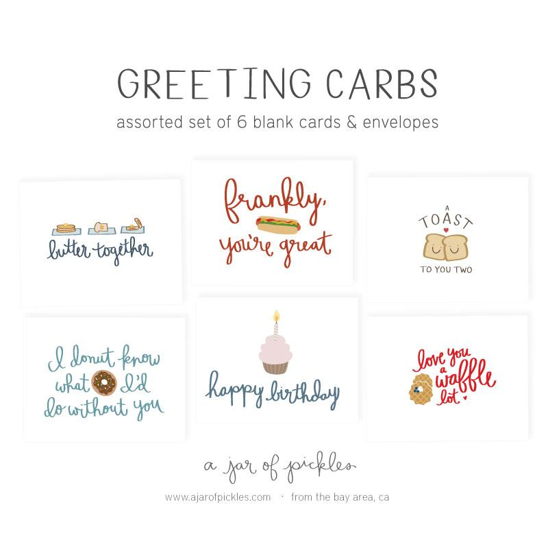 Greeting Carbs Assorted Card Set assorted card set, sets A Jar of Pickles